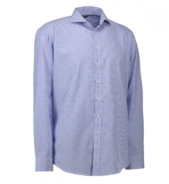 Herren Hemd bunt gepünktelt | Langarm | Bügelfrei | Modern Fit | 100 % Baumwolle