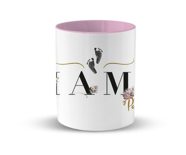 Personalisierte Tasse mit Kindername Geburtsgeschenk | in 2 Farben | Motiv: Mama