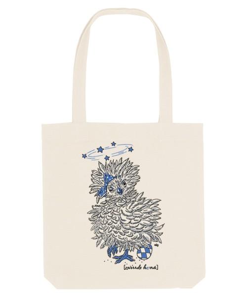Canvas Tasche div. Farben | Fair Wear | Motiv: Zwirrde Henne