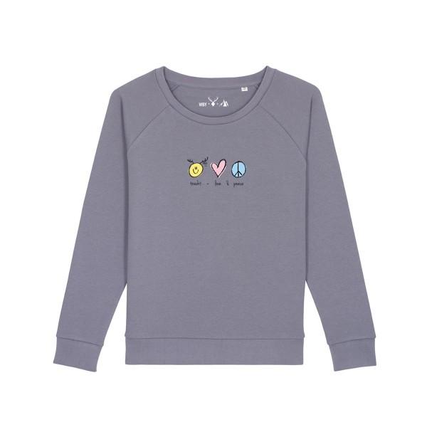 Pullover | Fair Wear | BIO | Motiv: Tracht = Love & Peace
