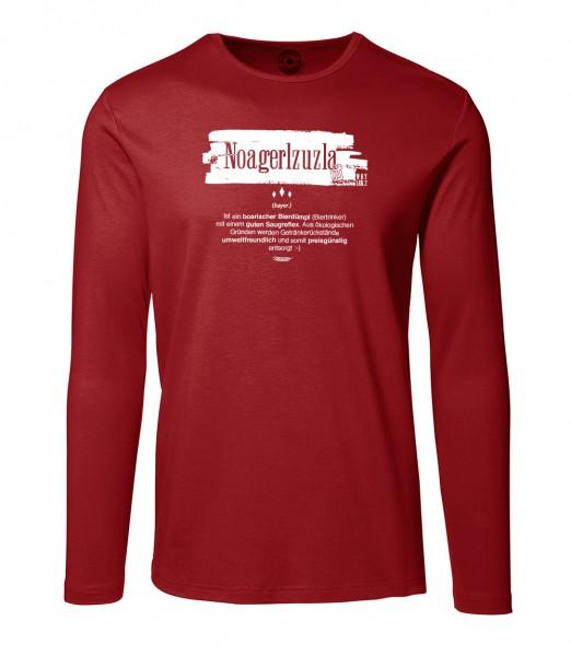Herren Rundhals Shirt | Langarm – Interlock Jersey Motiv: Noagerlzuzla