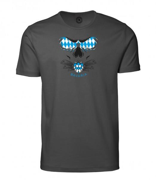 Herren Rundhals Shirt   Kurzarm – Interlock Jersey Motiv: Bazi 2