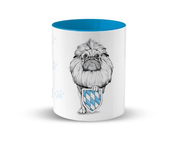 Kaffeetasse I Wappenmops | Bedruckt | Hellblau