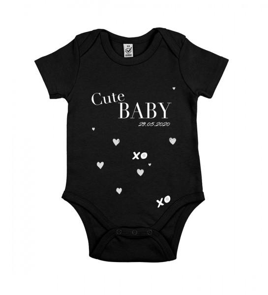 Veganer Baby-Bio-Body Motiv: Cute-Baby mit Personalisierung