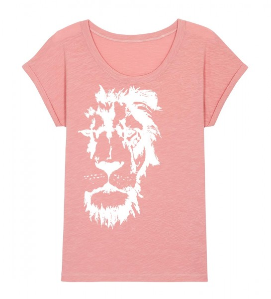 Shirt | weiter geschnitten | Fair Wear | BIO | Motiv: Löwe