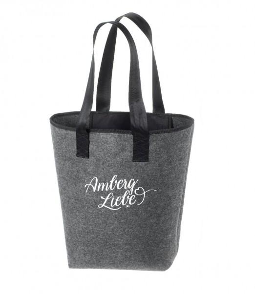 Filz Tasche grau | Hochwertig | Bedruckt mit Amberg Liebe
