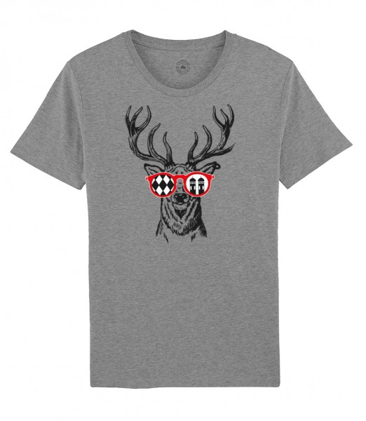Herren Shirt Rundhals | Fair Wear | Motiv: Munich Deer