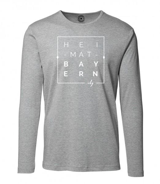 Herren Rundhals Shirt | Langarm – Interlock Jersey Motiv: Heimat Bayern