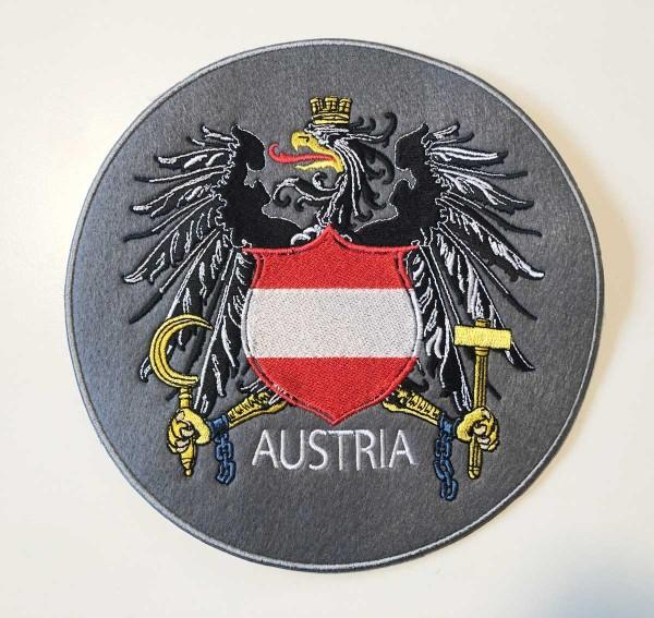 Patch zum aufnähen für Jacken | Motiv: Österreich Wappen