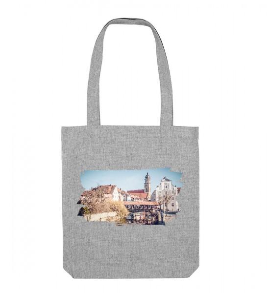 Canvas Tasche hellgrau | Fair Wear | Motiv: Amberg Schiffbrückgasse