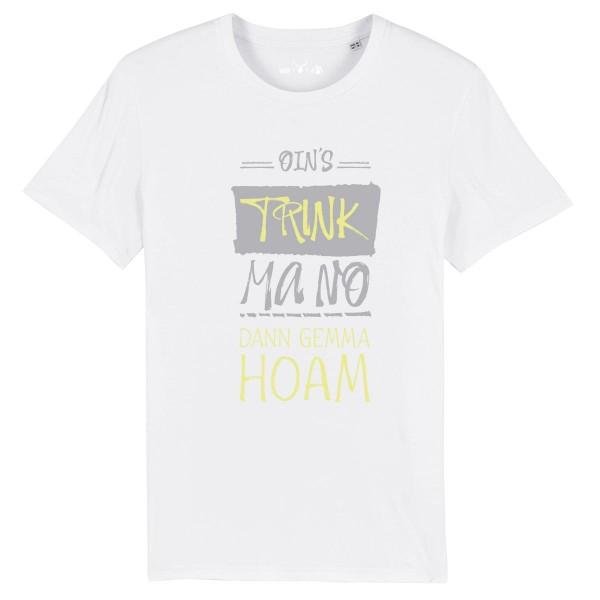 Herren Shirt Rundhals | Fair Wear | BIO | Motiv: Oins-Trinken