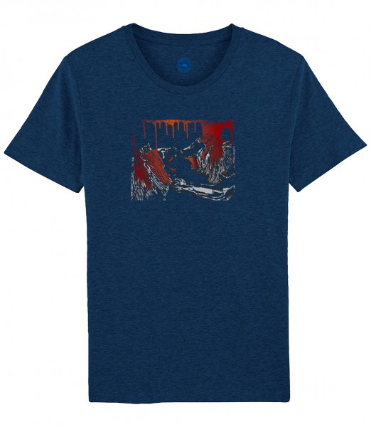 Herren Shirt Rundhals | Fair Wear | Motiv: Lion-Fight