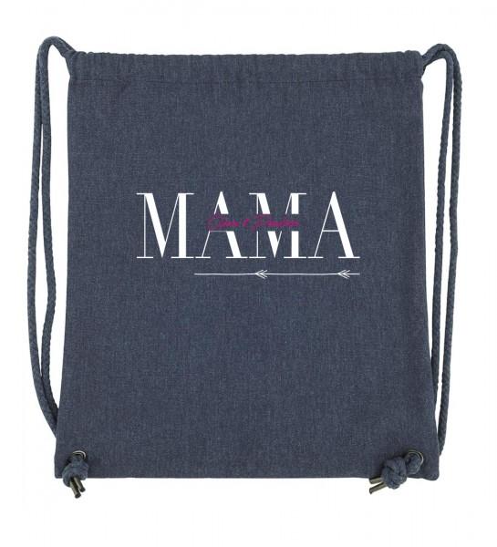 Beuteltasche | Gym Bag | Turnbeutel | Fair Wear | Nachhaltig | Motiv: MAMA Personalisiert