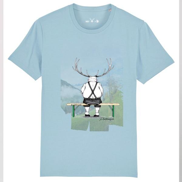 Herren Shirt Rundhals   Fair Wear   BIO   Motiv: Platzhirsch