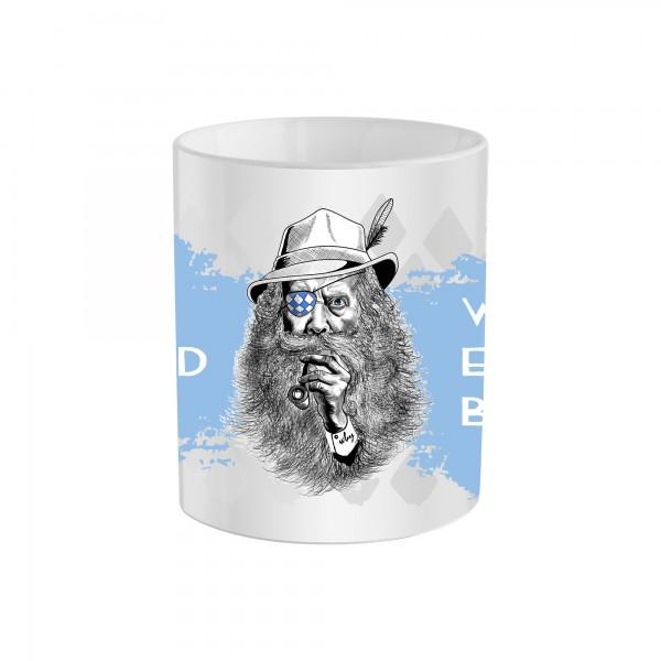 Tasse Herren Bayern Mann mit Hut