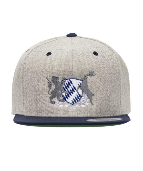 "Snapback Cap hellgrau ""Bayern Wappen"""