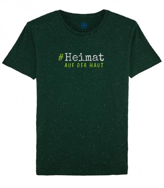 Herren Shirt Rundhals | Fair Wear | Motiv: Heimat auf der Haut grün
