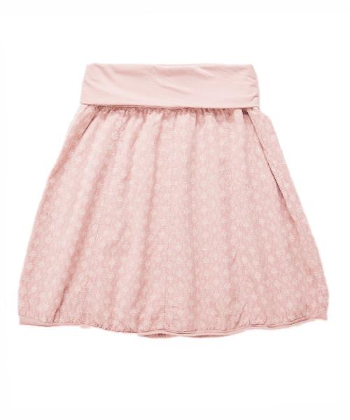 Ballonrock | Baumwolle-Cord-Optik | Bund dehnbar 66-110cm | Farbe Pastell-Rosa