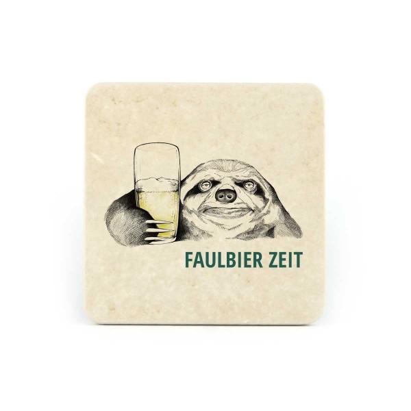Bierfilz | Steinfützl | Bedruck | Handgefertigt – Motiv Faulbierzeit