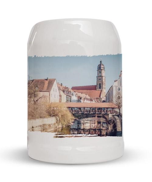Bierkrug - Steinkrug - Motiv: Amberg Schiffsbrücke