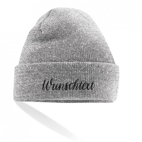 Unisex Mütze glatt | bestickt mit Wunschtext