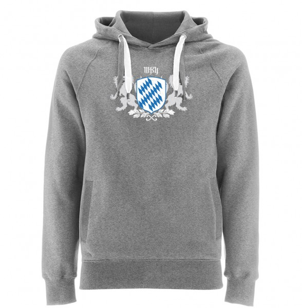 Kapuzenpullover Herren | Fair Wear | Motiv: Bayern-Wappen