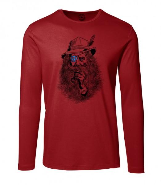 Herren Rundhals Shirt | Langarm – Interlock Jersey Motiv: Seppl-Peter