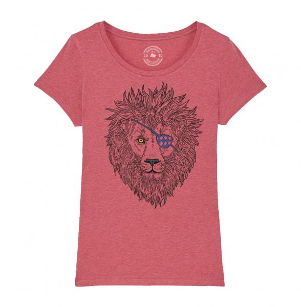 Damen Rundhals T-Shirt   Fair Wear   BIO   Motiv: Lumpi-Leo