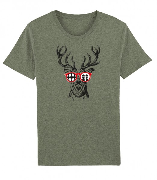 Herren Shirt Rundhals | Fair Wear | BIO | Motiv: Munich Deer