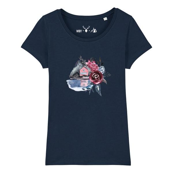 Damen Rundhals T-Shirt | Fair Wear | BIO | Motiv: Häusle am See