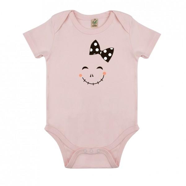Baby Body weiß oder rosa Motiv Grinsegesicht