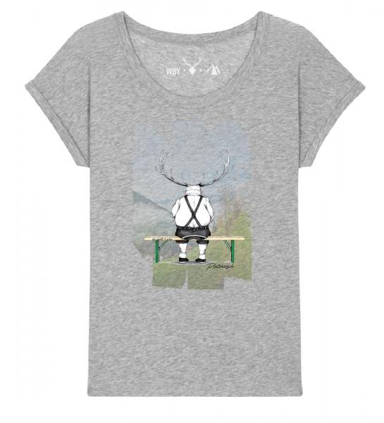 Shirt | weiter geschnitten | Fair Wear | BIO | Motiv: Platzhirsch