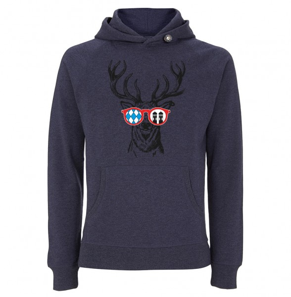 Trachtenhoodie Herren & Damen (Unisex) | Fair Wear | Motiv: Munich-Deer
