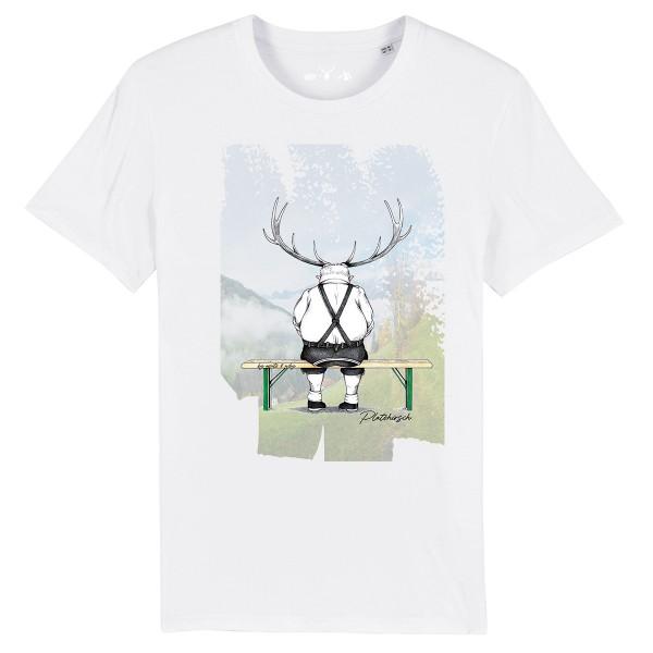 Herren Shirt Rundhals | Fair Wear | BIO | Motiv: Platzhirsch