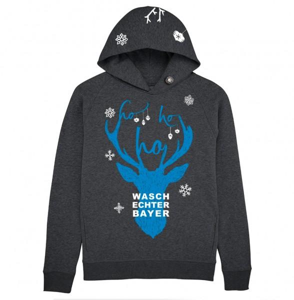 X-Mas Hoodie Waschechter Bayer Gr. M Farbe dunkelgrau
