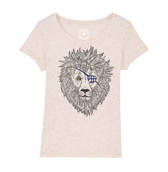 Damen Rundhals T-Shirt | Fair Wear | Motiv: Lumpi-Leo