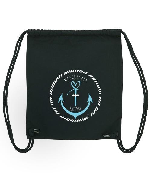 Beuteltasche | Gym Bag | Turnbeutel | Fair Wear | Nachhaltig | Motiv: Bayern Anker