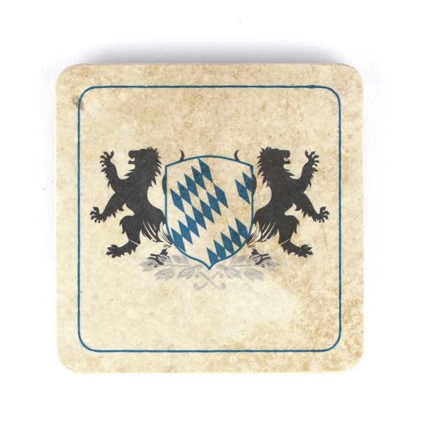 Bierfilz | Steinfützl | Bedruck | Handgefertigt – Motiv Bayern Wappen