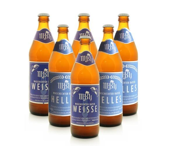 Geschenksett 3 Fl. Helles Bier & 3 Fl. Weizen Bier