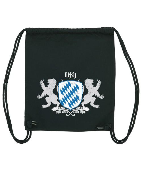 Beuteltasche | Gym Bag | Turnbeutel | Fair Wear | Nachhaltig | Motiv: Bayern Wappen