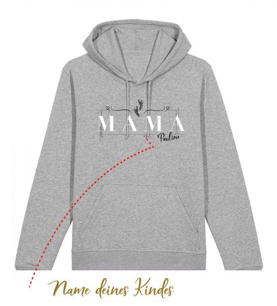 Geburts-Hoodie personalisiert Name des Kindes | Fair Wear | BIO | Motiv: Mama