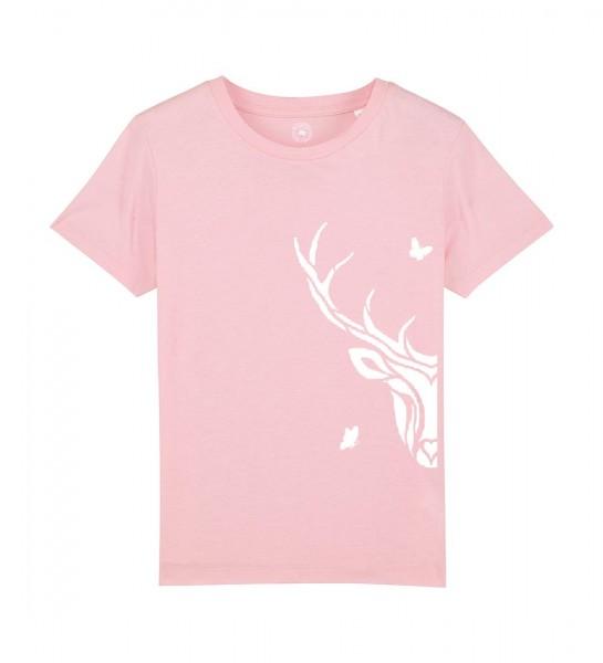 Shirt für Mädels   Unisex-Schnitt   Fair Wear   Motiv: Hirsch-Babsi