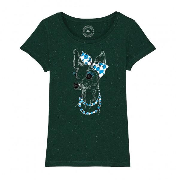 Damen Rundhals T-Shirt   Fair Wear   Motiv: Boarische Bixn