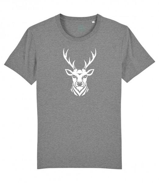 Herren Shirt Rundhals | Fair Wear | BIO | Motiv: Hirsch Dodo