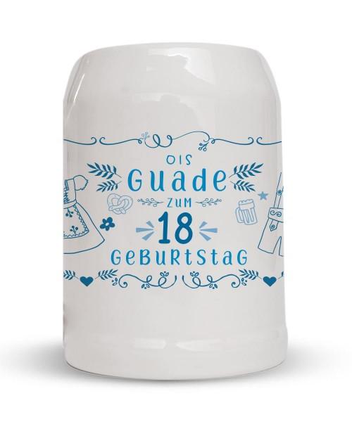 Bierkrug Ois Guade zum Geburtstag - Personalisiert