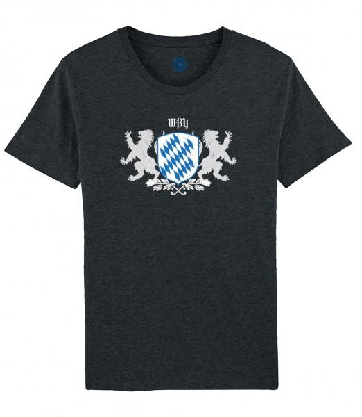 Herren Shirt Rundhals | Fair Wear | Motiv: Bayern Wappen