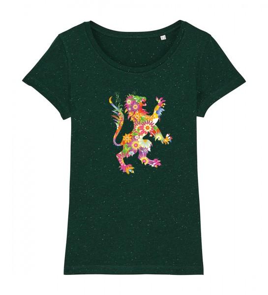Damen Rundhals T-Shirt | Fair Wear | BIO | Motiv: Flowerpower