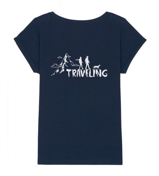 Damen Shirt Rundhals | Fair Wear | BIO | Motiv: Traveling