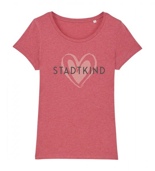 Damen Rundhals T-Shirt | Fair Wear | Motiv: Stadtkind