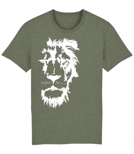 Herren Shirt Rundhals | Fair Wear | BIO | Motiv: Löwenmut